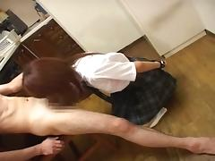 Japanese schoolgirl punished and forced to suck cock
