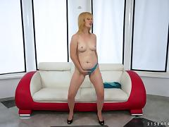 Mature woman with long blonde hair enjoying a hardcore anal fuck