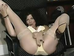 Mature Fetish, Amateur, Brunette, Lingerie, Masturbation, Mature