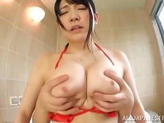 Bath, Asian, Bath, Big Tits, Boobs, Couple