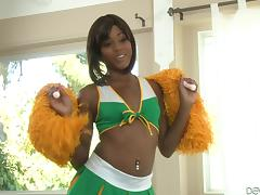 black cheerleader gets her pussy licked @ chocolate cheerleader camp #03