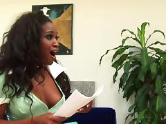 Lora Alexia sucks a cock in 69 pose and gets her ebony cunt banged