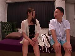 Tied up Japanese Minori Hatsune gets her pussy fingered and fucked