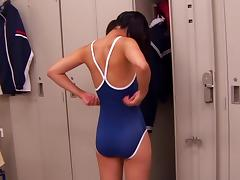 Pigtailed Japanese slut Ichigo gets fucked in the locker room