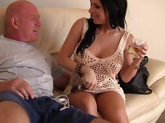 Seductive Latina brunette with long hair getting her pussy fingered before being nailed hardcore