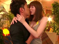 Japanese slut gets ass licked after BJ and cunt banged