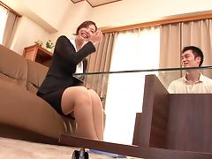 Ai Sayama receives a hot creampie after awesome bang scene