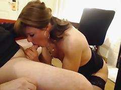 Long slow bj and she swallows it all