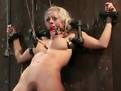 Blonde Slut Gets Her Nipples Pulled