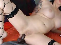 French milf pornstar in webcam