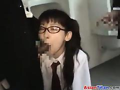 Sweet Asian Nerd Fucking Out In Public