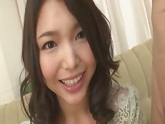 Cute teen Megumi Shino decent blowjob skills