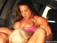 Bodybuilder, Big Tits, Boobs, Cunt, Lesbian, Lick