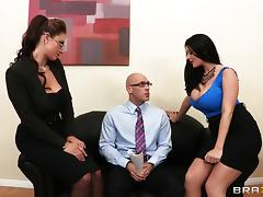 Office, Big Tits, Blowjob, Cowgirl, Cum in Mouth, Cumshot