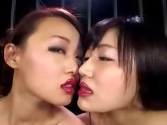 Japanese Lesbian, Asian, Japanese, Kissing, Lesbian, Lipstick