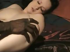 White wife sucking two dicks ( black n white )