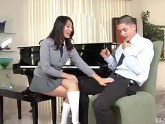 Socks, Asian, Babe, Couple, Doggystyle, Fucking
