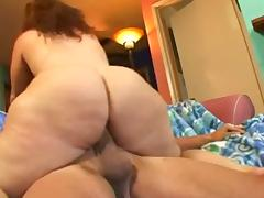 Mature masturbates her fat pussy before fucking