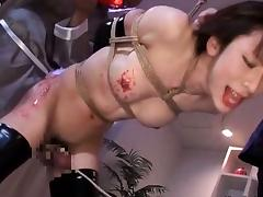 Japanese shemale gets rubbed