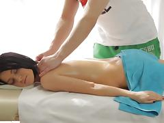Erotic massage with Kameya became hardcore sex