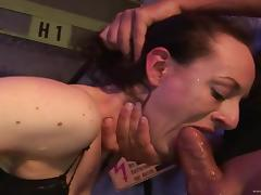 Cute Gundula gets face fucked,pinned doggystyle and enjoys DP in MMF scene
