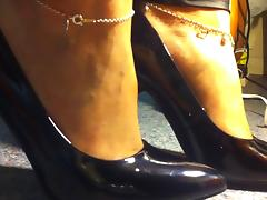 Black Fetish High Heels and feet!