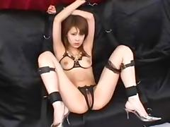 Japanese Cutie toyed and fucked by two Men