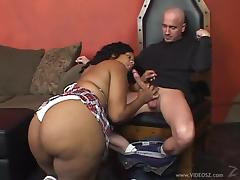 Talicious wearing a miniskirt gets her black cunt fucked deep