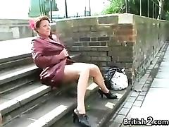Mature British Woman Pissing In Public