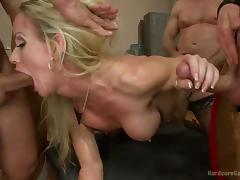 blonde milf craves gang bang