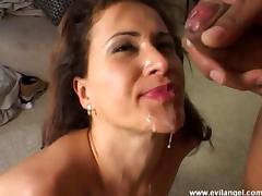 Hot anal chicks in FFM threesome suck dick and get cum in mouth