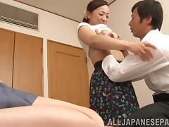 Japanese Mature, Asian, Blowjob, Bra, Cowgirl, Cunt