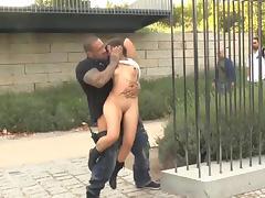 babe gets it hardcore in public
