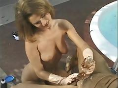 Gloves, Gloves, Handjob, Interracial, Outdoor