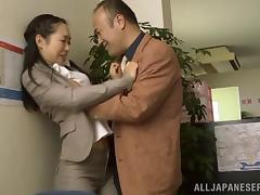 This loyal bitch knows how to please her boss in the office