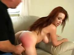 Big tits bdsm fetish babe enjoys getting her bum spanked before sex