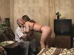 Old and Young, 18 19 Teens, Amateur, Blonde, Blowjob, Double