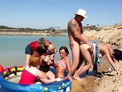 Beach, Beach, Doggystyle, Group, Hardcore, Orgy