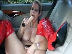 Backseat, Backseat, Big Tits, Fucking, German, Masturbation