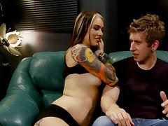 Lovely porn punk sweetheart Taurus gets banged with a hot cumshot