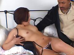 Cowgirl Enjoy Cock Sucking And Gets Bonked Doggystyle In Interracial