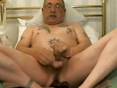 Gay tattoo'd Dad Cums