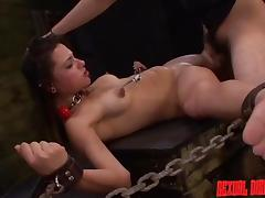 Chained, BDSM, Bitch, Slave, Spreading, Whore