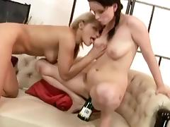 Horny young lesbians fisting