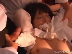 tiny japanese slut gets groped all over