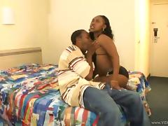 Curvy Ebony With Black Butt Swallow Big Black Cock In Her Tight Cunt