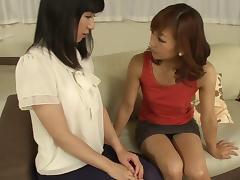 Horny Japanese teen gives her ass to an experienced milf