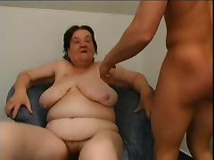 Grandma enjoys a throbbing rod in her old snatch after a BJ