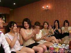 Hot Asian dolls get together for a scintillating orgy