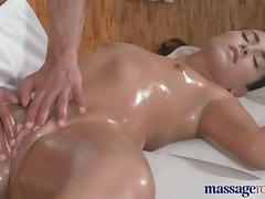 Massage Rooms Teen stunner is fucked deep